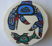 Orca Whale and Salmon Drum